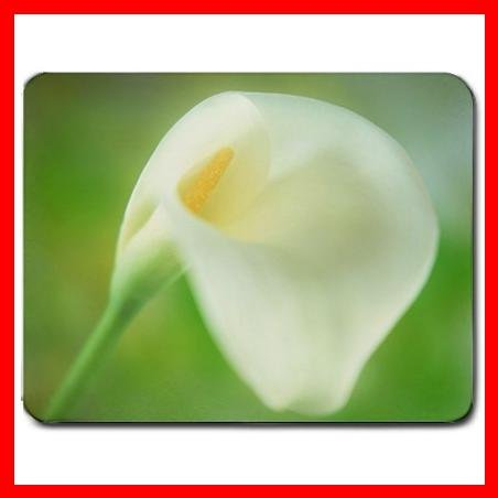 Calla Lily Pure White Flower Mouse Pad MousePad Mat 121