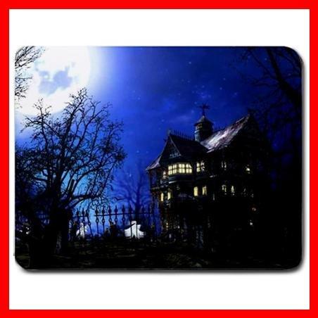 Haunted House Blue Night Fun Mouse Pad MousePad Mat 138