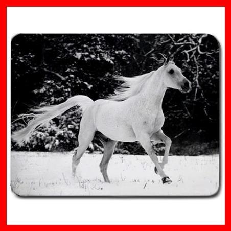 White Horse Running Animal Mouse Pad MousePad Mat 167