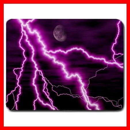 Purple Night Lightning Storm Mouse Pad MousePad Mat 185