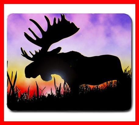 Moose At Sunrise Wildlife Mouse Mouse Pad MousePad Mat 207