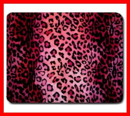 PINK LEOPARD Skin Animal Fun Mouse Mouse Pad MousePad Mat 214