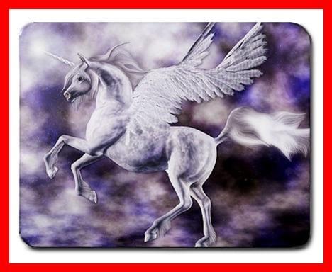 Winged Unicorn Fantasy Myth Mouse Pad MousePad Mat 223