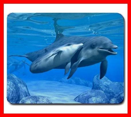 Dolphin Aquatic Mammal Sea Mouse Pad MousePad Mat 237