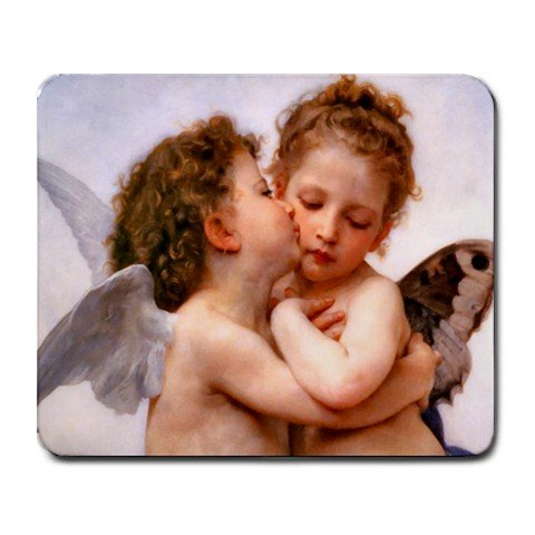 First Kiss Angel Love Hobby Mouse Pad MousePad Mat 250