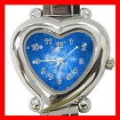 Blue Snow Flake Chistmas Italian Charm Wrist Watch 008
