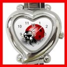 Cute Ladybug Bug Insect Hobby Italian Charm Wrist Watch 014