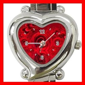 Fractal Red Rose Hobby Italian Charm Wrist Watch 017