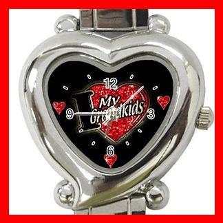I LOVE MY GRANDKIDS Kids Gift Italian Charm Wrist Watch 033