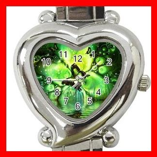 Green Butterflies Fly Hobby Italian Charm Wrist Watch 041