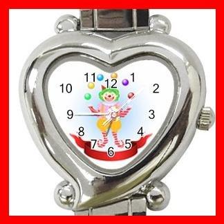 CLOWN JUGGLER JUGGLING CIRCUS FUN Italian Charm Wrist Watch 043
