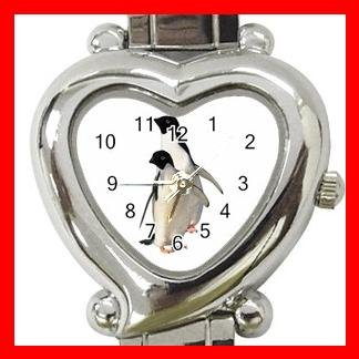Two PENGUINS Walking Italian Charm Wrist Watch 044