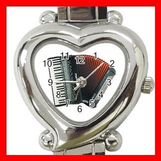 Accordion Piano Music Hobby Italian Charm Wrist Watch 048