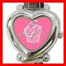 Cup Cakes Pink Hobby Fun Italian Charm Wrist Watch 050