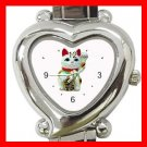 Lucky Cat Pet Animal Hobby Italian Charm Wrist Watch 052