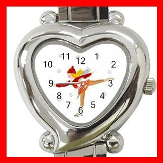 Ice Skating Sport Hobby Fun Italian Charm Wrist Watch 054