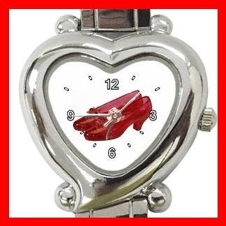 Wizard of Oz Ruby Slipper Italian Charm Wrist Watch 055