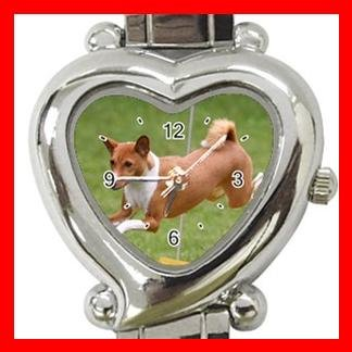 Basenji Dog Pet Hobby Italian Charm Wrist Watch 060