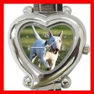 Bull Terrier Dog Pet Hobby Italian Charm Wrist Watch 062