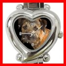 Border Terrier Dog Pet Hobby Italian Charm Wrist Watch 064