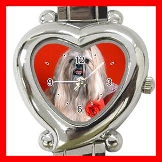 Lhasa Apso Dog Pet Hobby Italian Charm Wrist Watch 085