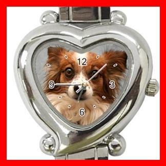 Papillon Dog Pet Hobby Italian Charm Wrist Watch 086