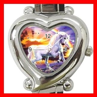 RAINBOW UNICORN Myth Fantasy Italian Charm Wrist Watch 092