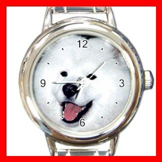 Samoyed Dog Pet Hobby Italian Charm Wrist Watch 091