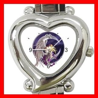 Purple Fairy Moon Dream Italian Charm Wrist Watch 099