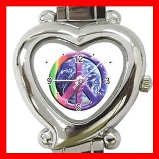 Rainbow Earth Peace Italian Charm Wrist Watch 102