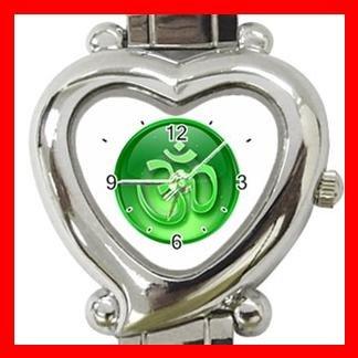 OM Symbol Green Infinity Italian Charm Wrist Watch 105