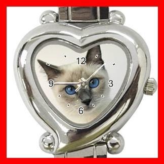 Siamese Cat Animal Italian Charm Wrist Watch 107