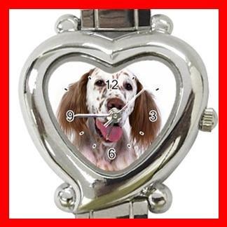 English Setter Dog Pet Italian Charm Wrist Watch 110