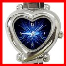 Weird Blue Hobby Heart Italian Charm Wrist Watch 114