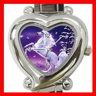 Unicorn Moon Myth Heart Italian Charm Wrist Watch 118
