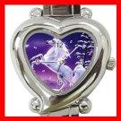 Unicorn Moon Myth Heart Italian Charm Wrist Watch 118