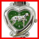 Dalmatian Pet Dog Heart Italian Charm Wrist Watch 119