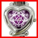 Pink Heartagram Heart Italian Charm Wrist Watch 122