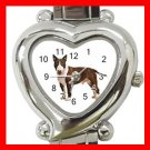 Bull Terrier Pet Dog Animal Heart Italian Charm Wrist Watch 123