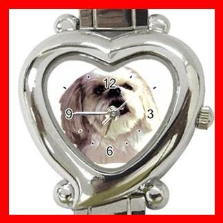 Lhasa Apso Dog Pet Animal Heart Italian Charm Wrist Watch 126