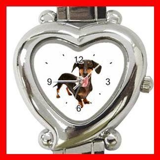 Dachshund Dog Pet Animal Heart Italian Charm Wrist Watch 132