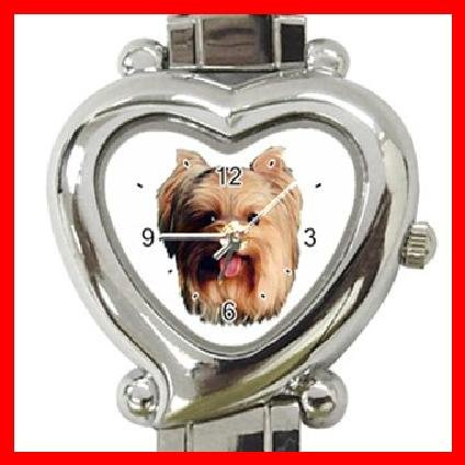 Yorkshire Terrier Dog Pet Heart Italian Charm Wrist Watch 142