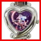 Purple Moon Fantasy Myth Heart Italian Charm Wrist Watch 143