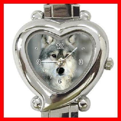 Grey Wolf Animal Heart Italian Charm Wrist Watch 146