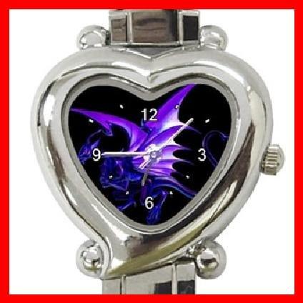 Blue Dragon Myth Heart Italian Charm Wrist Watch 148