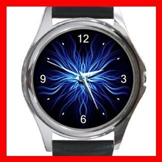 Weird Blue Metal Wrist Watch Unisex 001