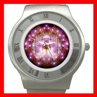WICCAN PENTACLE Stainless Steel Wrist Watch Unisex 002