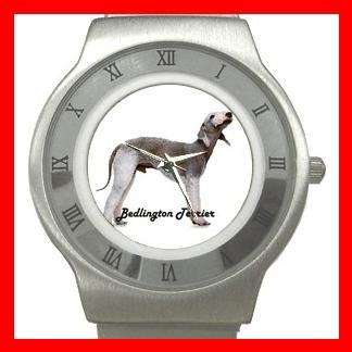 Bedlington Terrier Dog Pet Animal Stainless Steel Wrist Watch Unisex 005