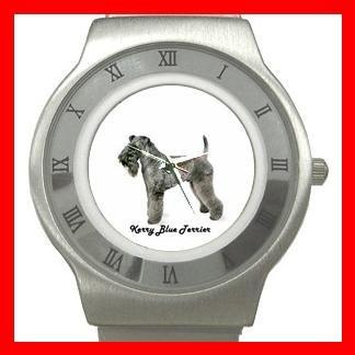 Kerry Blue Terrier Dog Pet Animal Stainless Steel Wrist Watch Unisex 009