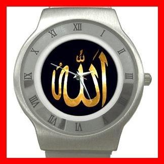 Allah God ISLAMIC Hobby Stainless Steel Wrist Watch Unisex 014